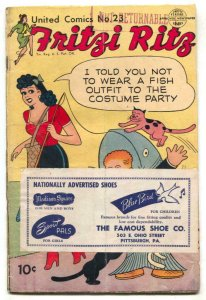 United Comics #23 1952-EARLY PEANUTS-Fritzi Ritz- G