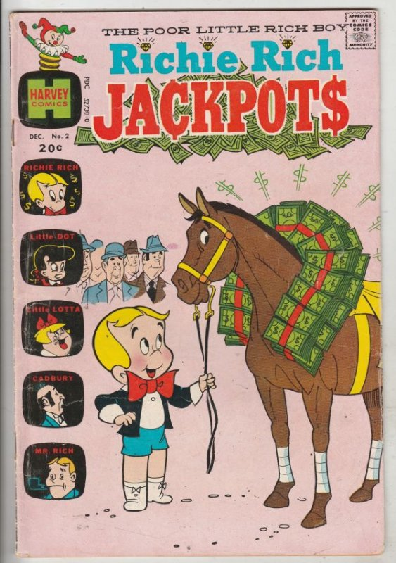 Richie Rich Jackpots #2 (Dec-72) VG Affordable-Grade Richie Rich
