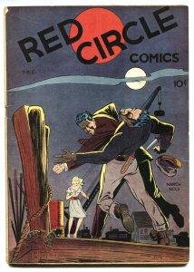 RED CIRCLE #3-1945-RURAL HOME-THE PRANKSTER-CRIME vg