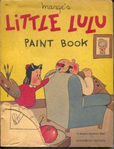 Marge's Little Lulu Paint Book #669 1949-Whitman-Marjorie Henderson Buell-FR/G