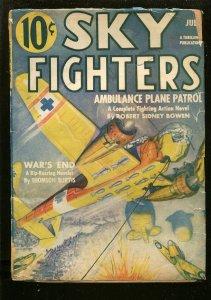 SKY FIGHTERS 7/1941-AIR WAR PULP-THRILLS-WWII-GERMAN BOMBER-good/vg