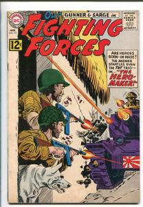 OUR FIGHTING FORCES #73-1963-DC-WWII-POOCH-GUNNER & SARGE-TANK BATTLE-vf