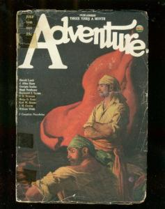 ADVENTURE PULP-7/30/1923-PIRACY COVER-J ALLAN DUNN-RARE-good G