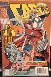 MARVEL COMICS-CABLE #9-THE KILLING FIELD-DATE: MARCH 1993-GREAT COMIC BOOK!!!!