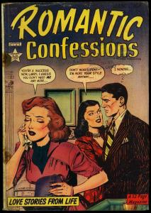 Romantic Confessions #4 1950- Golden Age Romance Boxing story G/VG