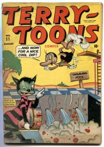 Terry-Toons #11 1943- Timely Funny Animals- Nazis- Frankenstein