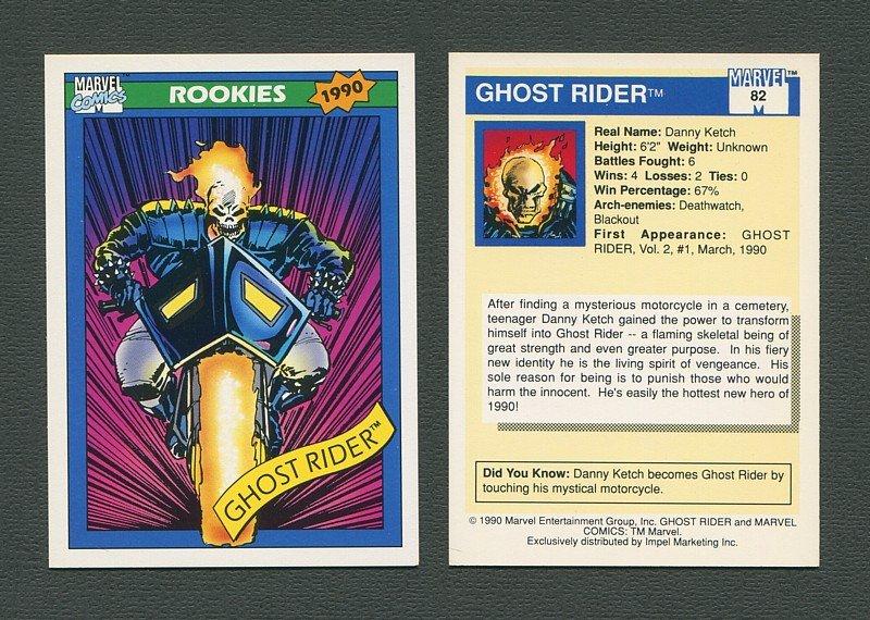 1990 Marvel Comics Card  #82 (Ghost Rider) / MINT