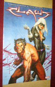 Wolverine and the Black Cat: Claws poster - 24 x 36 - joe linsner marvel 2010