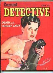 CURRENT DETECTIVE #1JUNE 1944-PULP-J Edgar Hoover-SOUTHERN STATES PEDIGREE- f/vf