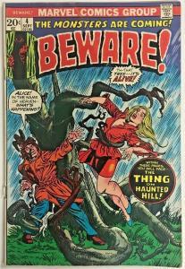 BEWARE#4 GD/VG 1973 MARVEL BRONZE AGE COMICS
