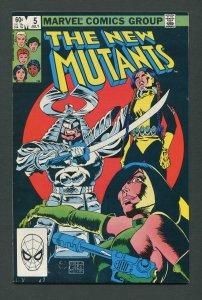 New Mutants #5  7.0 FN/VFN  July 1983