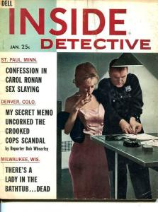 INSIDE DETECTIVE-APRIL 1962--SPICY-MURDER-KIDNAP-RAPE-COVER BY STONE G/VG