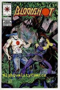 BLOODSHOT #7, VF+, Valiant, 1993, 1st Ninjak, Death,John Dixon,Kevin Van Hook