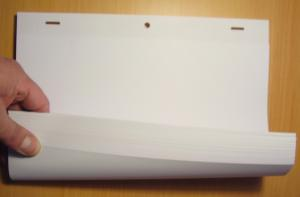 Animation 100 Perforated Paper Sheets