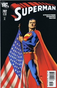 Superman #702 ORIGINAL Vintage 2010 DC Comics US Flag Cover