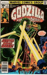 Godzilla(Marvel) # 2   Godzilla destroys Seattle !