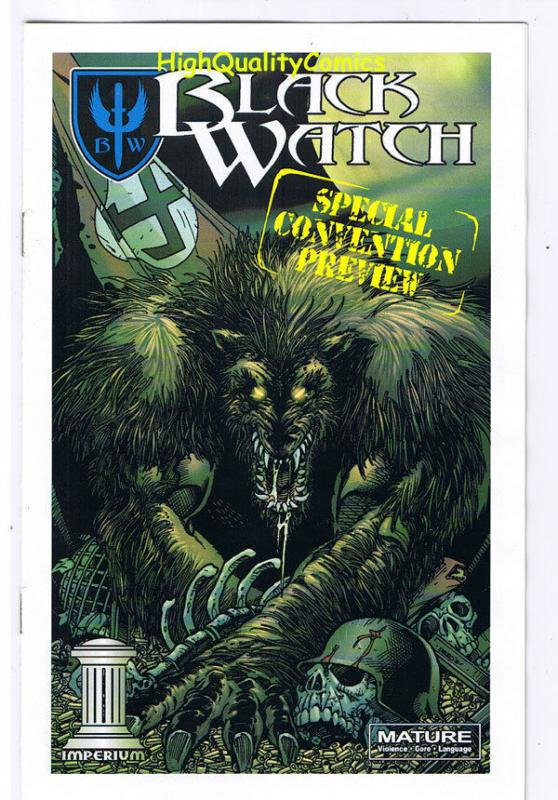 BLACK WATCH preview, NM, Promo, ashcan, Werewolf, 2008