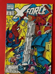 X-FORCE V1 #4  1991 MARVEL / SABOTAGE X-OVER PART 2 / HIGH QUALITY