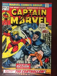 CAPTAIN MARVEL #30 VF! SIGNED JIM STARLIN! THE ULTIMATE THANOS COLLECTION!