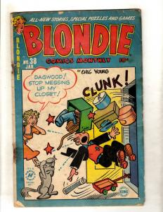 Blondie # 38 GD Golden Age 1952 Comic Book Chic Young Dagwood King Feature JL15