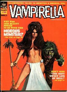 Vampirella #10 1971-Warren-horror-Neal Adams-Wally Wood-Brunner art-VG