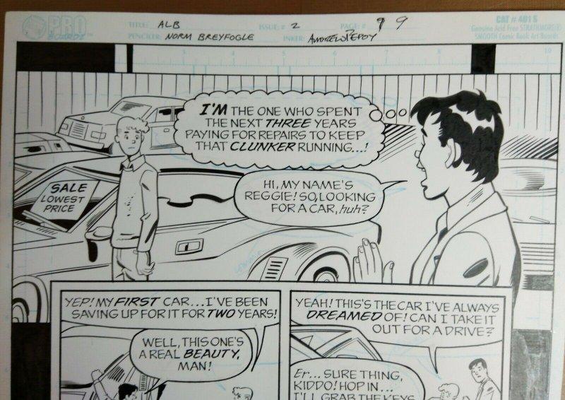 Original Art: ARCHIE LOVES BETTY #2, pg 9 Norm Breyfogle signed, Andrew Pepoy