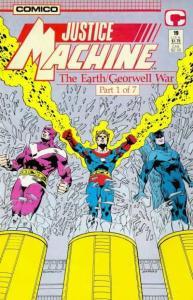 Justice Machine (1987 series) #19, NM + (Stock photo)