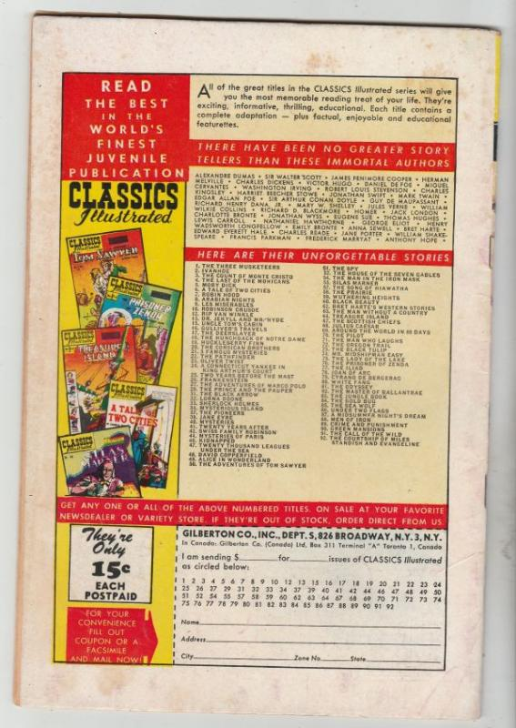 Classics Illustrated #92 (Feb-52) FN/VF Mid-High-Grade Miles Standish