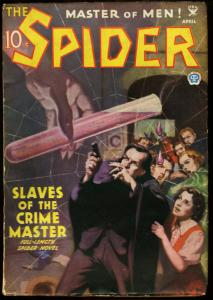 SPIDER PULP 1935 APR UNMASKED ON COVER POPULAR PUBS VG/FN