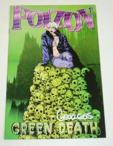 Poizon #1 VF/NM; green death variant  signed by Georges Jeanty - London Night