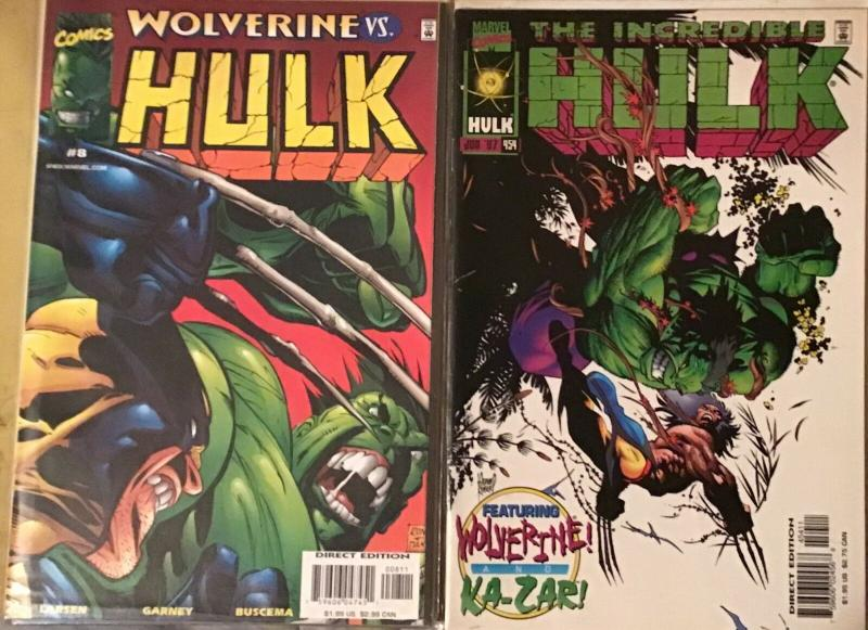 INCREDIBLE HULK VOL.3 #8 MARVEL AND INCREDIBLE HULK #454 WOLVERINE GUEST STARS