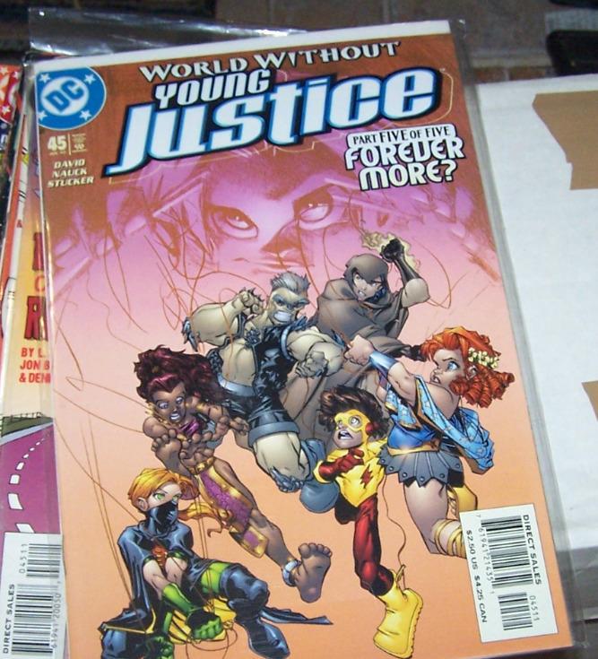Young Justice #45 (Jul 2002, DC) pt 5 forever more kid flash+superboy