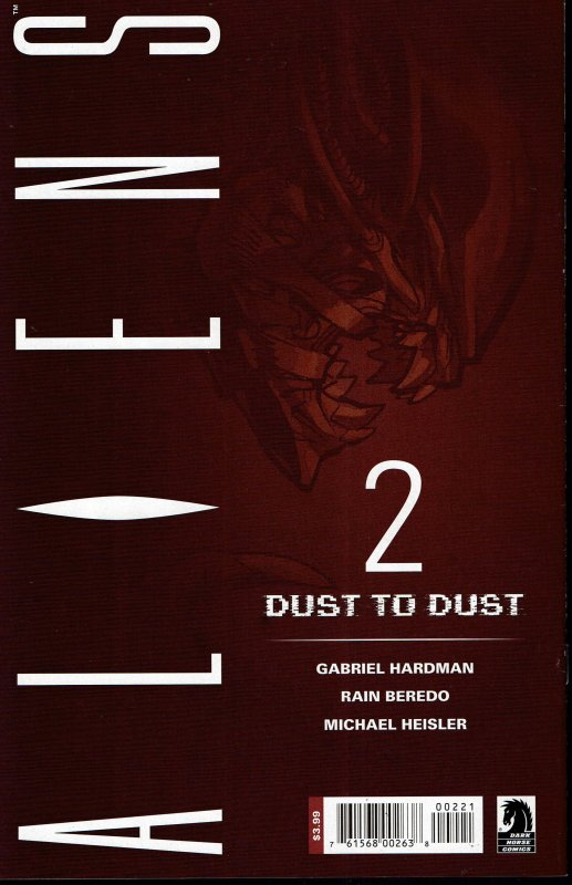 Aliens: Dust To Dust #2B  VARIANT COVER!