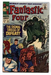 FANTASTIC FOUR #58 1966-DR DOOM-SILVER SURFER-INHUMANS VF+