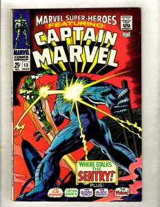 Marvel Super-Heroes # 13 VF Comic Book 1st Carol Danvers Appearance Captain HY1