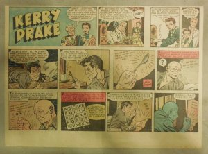 Kerry Drake Sunday by Alfred Andriola from 10/24/1943 Half Page Size! Year #1