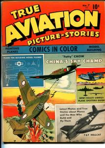 True Aviation Picture-Stories #7 1944-WWII Air War features-F6F Hellcat-VF