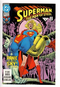 SUPERMAN MAN OF STEEL 10;CRISIS #7 RIP OFF FRONT COVER!!