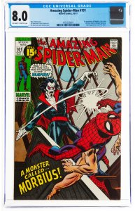The Amazing Spider-Man #101 (Marvel, 1971) CGC Graded 8.0 The first appearanc...
