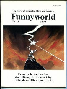 Funnyworld  #19 1978-Frank Frazetta-Walt disney in Kansas City-VF