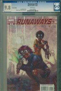 RUNAWAYS #28 CGC 9.8 NM/MINT-- Highest Graded -- ZOMBIE VARIANT COVER -- HULU TV