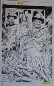TIMOTHY TRUMAN / SAM GLANZMAN original art, Jonah Hex #2, pg 25,11x17,2/3 Splash
