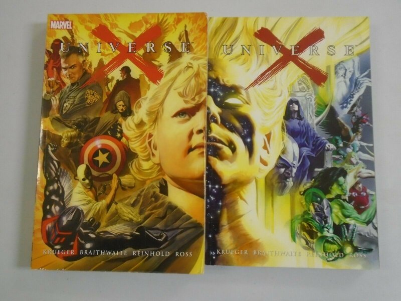 Universe X TPB set #1+2 SC 6.0 FN (2002 1st Printing)