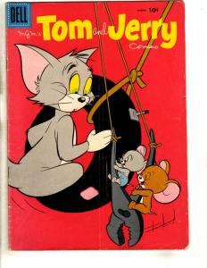Tom & Jerry Comics # 164 FN- Dell Silver Age Comic Book Cat & Mouse JL18