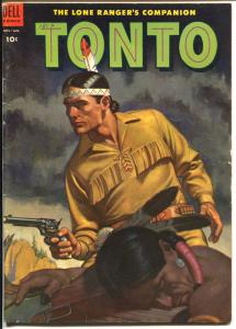 Tonto #13 1954-Dell-Lone Ranger's Indian Companion-excellent art-VG/FN
