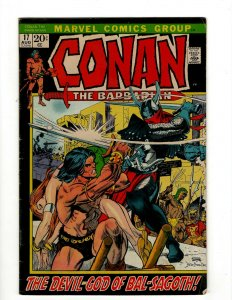 Conan The Barbarian # 17 FN Marvel Comic Book Barry Smith Kull King Sword NP16