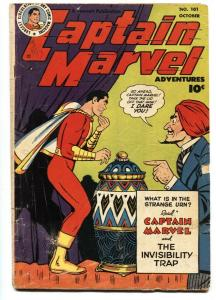 Captain Marvel Adventures #101 1949- Seance cover- Golden Age Fawcett G/VG