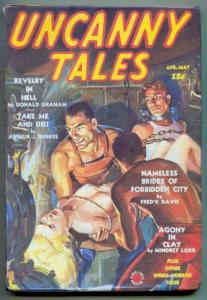 Uncanny Tales Pulp April 1939- Revelry In Hell- xerox cover