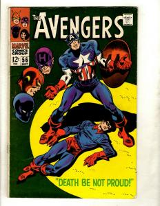 Avengers # 56 FN Marvel Comic Book Hulk Thor Iron Man Captain America GK2