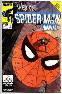 WEB of SPIDER-MAN #2 Annual, VF/NM, Vess Arthur Adams, 1985 1986